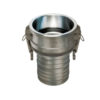 """1 1/2"""" 304 Stainless Steel Female Coupler x Hose Shank Quick Coupling  (Part C)"""