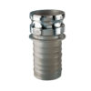 """1 1/2"""" 304 Stainless Steel Male Adapter x Hose Shank Quick Coupling  (Part E)"""