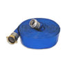 "1-1/2"" x 25 ft Blue Water Discharge Hose Male x Female Threaded (Short Shank) Aluminum"