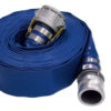 "1-1/2"" x 25 ft Blue Water Discharge Hose Male x Female QC Alum"