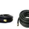 "3/4"" x 50 ft Black Contractor Washdown Hose Assembly w/ Garden Hose Threaded Ends"