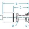 "1/4"" Hose ID x 1/4"" - O-Ring Face Seal Female Swivel Long Standard Hydraulic Fitting"