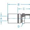 """1/4"""" Hose ID x 1/2"""" - Female Grease Tap Rigid Standard Hydraulic Fitting"""