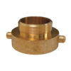 """1 1/2"""" Female NST x Male 3/4"""" GHT Hydrant Adapter (Brass)"""