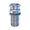 "3/4"" Aluminum Male Adapter  x  Hose Shank Quick Coupling (Part E)"