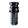 """1 1/2"""" Poly Male Adapter x Hose Shank Quick Coupling (Part E)"""