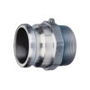 """1 1/2"""" Aluminum Male Adapter x Male NPT Quick Coupling (Part F)"""