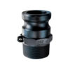 """1 1/2"""" Poly Male Adapter x Male NPT Quick Coupling  (Part F)"""