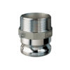 "1 1/2"" Stainless Steel Male Adapter x Male NPT Quick Coupling  (Part F)"