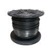 Black air and water hose on black plastic reel.
